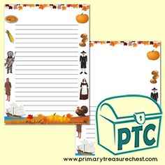 Thanksgiving Teaching Resources, Primary, Elementary schools - Primary Treasure Chest Teaching Activities, Teaching Art, Teaching Resources, Teaching Ideas, Ourselves Topic, Crafts For Kids, Arts And Crafts, Page Borders, Pre Kindergarten