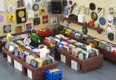 LEGO®で作ったレコードストアがノスタルジックでクールと話題 – The LEGO® Movie