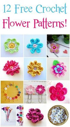 12 Free Crochet Flower Patterns!!