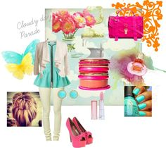 """Cloudy Day Parade"" by rhinestonesandrouge on Polyvore"
