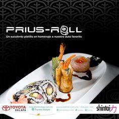Dale un giro a tu lunes. Experimenta el audaz sabor del #PriusRoll un suculento homenaje a la innovación del #Prius2016. #SoyToyotaXalapa