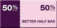 Better Half #Chocolate Bar, Bloomsberry  & Co. #fashion #follow4follow #teamfollowback #fashionista #beauty