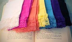 Lace Trim Legging (More Colors!)