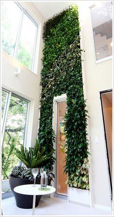 花のかべ(室内壁面緑化)オーダーメイド 施工事例 屋上緑化・壁面緑化 ミドリエ サントリー
