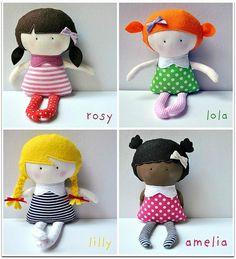 Homemade dolls--I love the hair!!