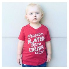 Uh-oh this little stud muffin is going to be a lady killer! He is looking so handsome in our •I'M NOT A PLAYER, I JUST CRUSH A LOT• tee! We restocked them on the site! Check it out! 🙌🏻☠ • • • • • • #cutekidsclub #igfashion #kidzootd #instagram_kids #trendykiddies #babiesofinstagram #kidzfashion #kidslookbook #kids_stylezz #thechildrenoftheworld #igkiddies #clevelandbrowns #bestfriend #parenthood #mommy #mommylife #mom #momlife #allmommedout #motherhood #mother #coffeelover #player…