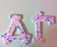 handmade delta gamma lilly pulitzer letters - you could hand paint this on your own letters or on anything, pottery!