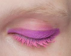 hmmm...pink eyeliner, pink mascara...I wonder what this would look like...curious