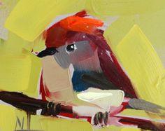 Baby Robin no. 6 Art Print door Angela Moulton 5 door prattcreekart
