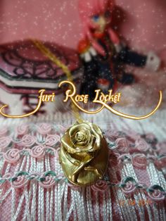 REVOLUTIONARY GIRL Utena Juri ROSE Locket One of a Kind. $49.99, via Etsy.
