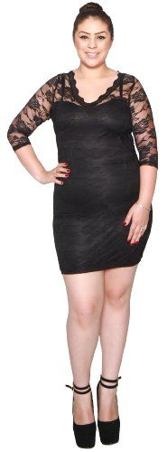 Libian Jr Plus Size 3/4 Sleeve Floral Lace Print Dress (1X, Black) Libian,http://www.amazon.com/dp/B00JUG3QQK/ref=cm_sw_r_pi_dp_gaOBtb11FFS3MNQM