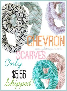 Chevron Scarves Only $5.56 each Shipped! (Great Gifts!)