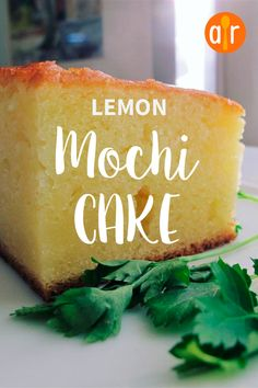Use that mochiko flour and create these delightfully chewy, not-too-sweet lemon mochi cake bars with rich flavor. Hawaiian Desserts, Asian Desserts, Just Desserts, Delicious Desserts, Dessert Recipes, Japanese Desserts, Yummy Food, Gourmet Desserts, Plated Desserts