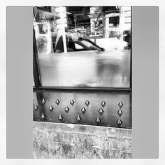 anti #homeless spikes in a supermarket window in central London