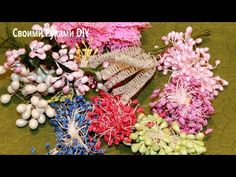 DIY:Easy to make❤DIY-Micro beads&Diamond dust stamen ❤ by SaCrafters - YouTube
