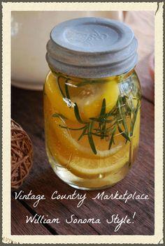 DIY Williams Sonoma lemon rosemary vanilla potpourri