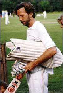 Eric Clapton with his Cricket team...mid 80's