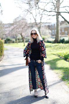 crochet coat from Zara