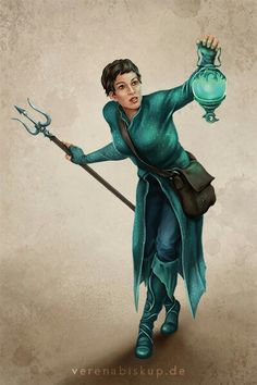 f Wizard Robes Trident Lantern urban city undercity Fantasy Story, High Fantasy, Fantasy Rpg, Medieval Fantasy, Character Creation, Character Concept, Character Art, Concept Art, Story Characters