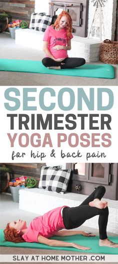 Try these 8 simple beginner prenatal yoga poses to help relieve back pain and hip pain during your pregnancy! 8 Easy prenatal yoga poses for the second trimester - easy enough for beginners to try and safe for the second and third trimester. Pregnancy Yoga Poses, Pregnancy Back Pain, Happy Pregnancy, Pregnancy Workout, Pregnancy Test, Pregnancy Travel, Maternity Yoga, Pregnancy Vitamins, Pregnancy Diary