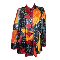 1stdibs | Koos Van den akker Vintage Patchwork  evening swing coat