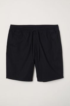 Shorts in textured-weave cotton fabric with an elasticized drawstring waistband, side pockets, and a back pocket with snap fastener. Jogging, Everyday Dresses, H&m Online, Classic Man, Jersey Shorts, Apple Watch Bands, Fashion Company, Cotton Shorts, Black Men