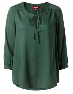 JAZLYN blus grön | Solid | Blouse | Blusar | Kläder | INDISKA Shop Online