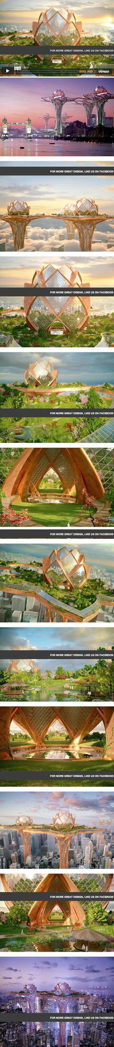 This is beyond amazing! Futuristic City in the Sky Provides Tranquil Oasis Away From Urban Life.