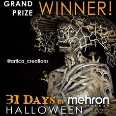 We couldn't be more thrilled to announce the Grand Prize Winner of #31daysofmehronhalloween....@artica_creations !!!! Thanks to @mehronmakeup and all of the makeup artists who participated! This is one of the most skilled artists and creative submissions we've come across and are pleased to announce her as our winner. Congratulations @artica_creations your Fungus Queen is one of kind much like you. #mehronmakeup #31daysofmehronhalloween #creativemakeup #grandprize #winner #halloweenmakeup… Halloween 2020, Halloween Make Up, Mehron Makeup, 31 Days, Professional Makeup, Makeup Looks, Thankful, Queen, Makeup Artists