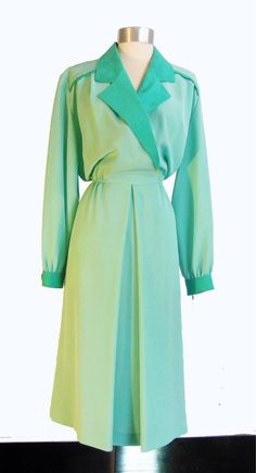 Vintage 70s Lilli Ann Collections Teal Poly by MercantileRepublic, $45.00