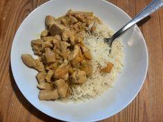 Hähnchen - Pfirsich - Curry 1