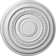 "Ekena Millwork CM18OL 18""OD x 1 1/4""P Oldham Ceiling Medallion (Fits Canopies up to 8 5/8"")"