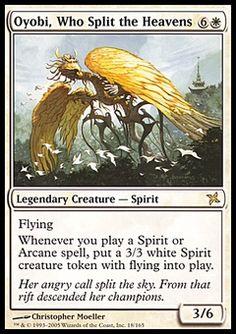 Oyobi, Who Split The Heavens - Legendary Creature - Spirit - Sun - White - Betrayers Of Kamigawa - Magic The Gathering Trading Card
