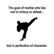 Martial Art Character Poster