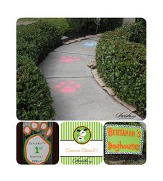 Puppy Party walkway @Kali Gatlin I'm pretty sure Cash Money needs a 1st bday party!!!