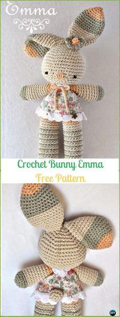 Amigurumi Crochet Bunny Emma Free Pattern - Crochet Amigurumi Bunny Free Patterns