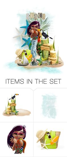 """""""Beach bound"""" by riri-thatsme ❤ liked on Polyvore featuring art"""