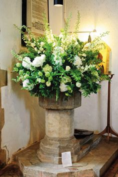 Classic and Elegant church flowers