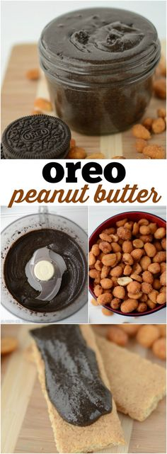Oreo Peanut Butter - only 2 ingredients to a fast and easy homemade chocolate peanut butter recipe!