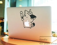 lovely cat macbook decal/Decal for Macbook Pro, Air or Ipad/Stickers/Macbook Decals/Apple Decal for Macbook Pro / Macbook Air/laptop 063