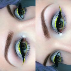 """Molly Bee on Instagram: """"silver and lime    @anastasiabeverlyhills Brow Definer in 'Taupe' and Dip Brow in 'Medium Brown'   @zoevacosmetics Smoky Palette   @sugarpill 'Grand Tiara' Pigment   @cailynmakeup Liquid Gel Liner   #limecrime 'Citreuse' Liner   @maccosmetics Toledo Eye Pencil in 'Chlorofill' (waterline)   @blackmagiclashes in 'Fortune'   ✌️"""""""