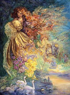 """Dress of Day Dreams 2"" par Josephine Wall"