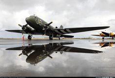 """C-47 Dakota, wearing """"Invasion Stripes"""".      ;-)"""