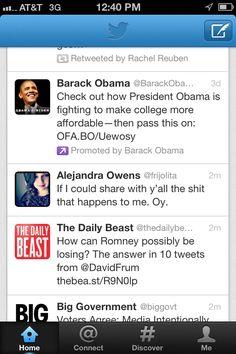 Obama promoted tweet on mobile