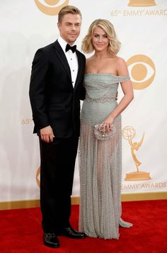 Juilianne and Derek walked the red carpet at the Emmy Awards