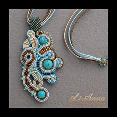biżuteria,biżuteria artystyczna,haft sutasz,handmade,hand made,kolczyki,rękodzieło,sutasz,soutache, kolekcja 2011,LiAnna,srebro,turkus, koraliki