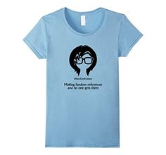 Women's Nerd Girl Problem #5 T-Shirt Large Baby Blue - Brought to you by Avarsha.com