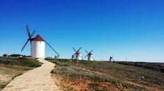 Molinos de viento, Mota del Cuervo, Cuenca, Castilla La Mancha, España.