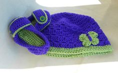 Fashionable Toddler Set  Slippers and Beanie  by HalesBeeHandmade, $22.95