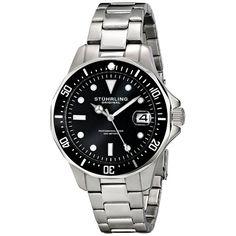 Stuhrling Original Aquadiver Stainless Steel Bracelet Men's Watch! (Save 87%) | 1Sale Community